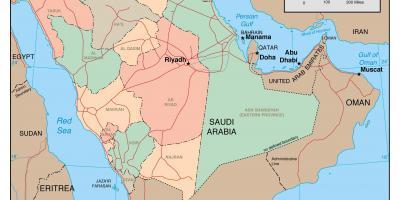 Karte Iran Nachbarlander.Saudi Arabien Ksa Map Karten Saudi Arabien Ksa West